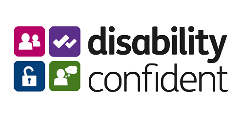the Disability Confident accreditation logo.