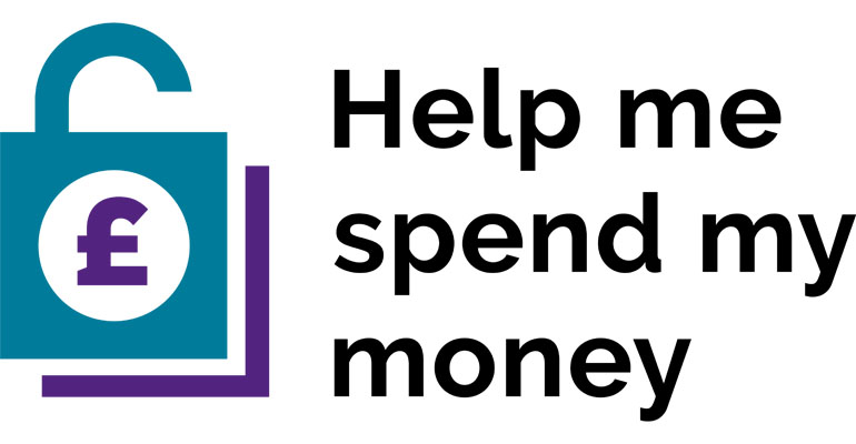 The Help Me Spend My Money logo.