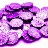 Purple pound coins