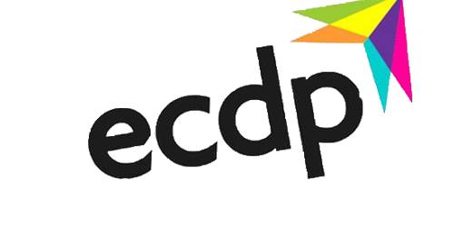 the ecdp logo.
