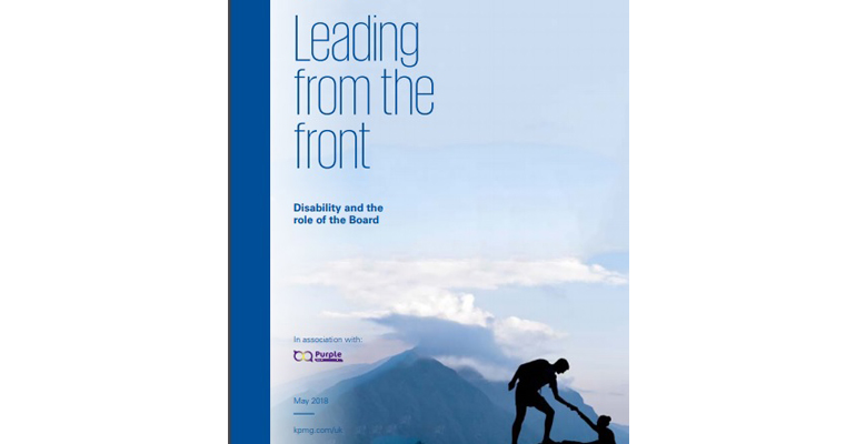 Purple staff members including, Phil Allen, Kristine Alderman, Erkan Ibrahim, Mike Adams, Aimen Chouchane and Mark Flint at the launch event for the Leading from the Front review in collaboration with KPMG.