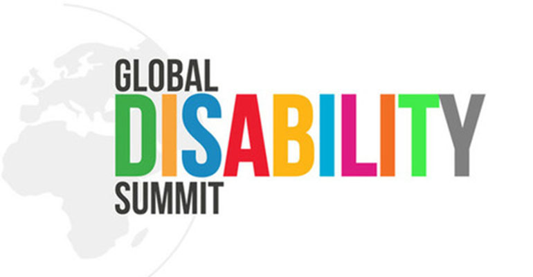 The logo for the Global Disability Summit 2018.