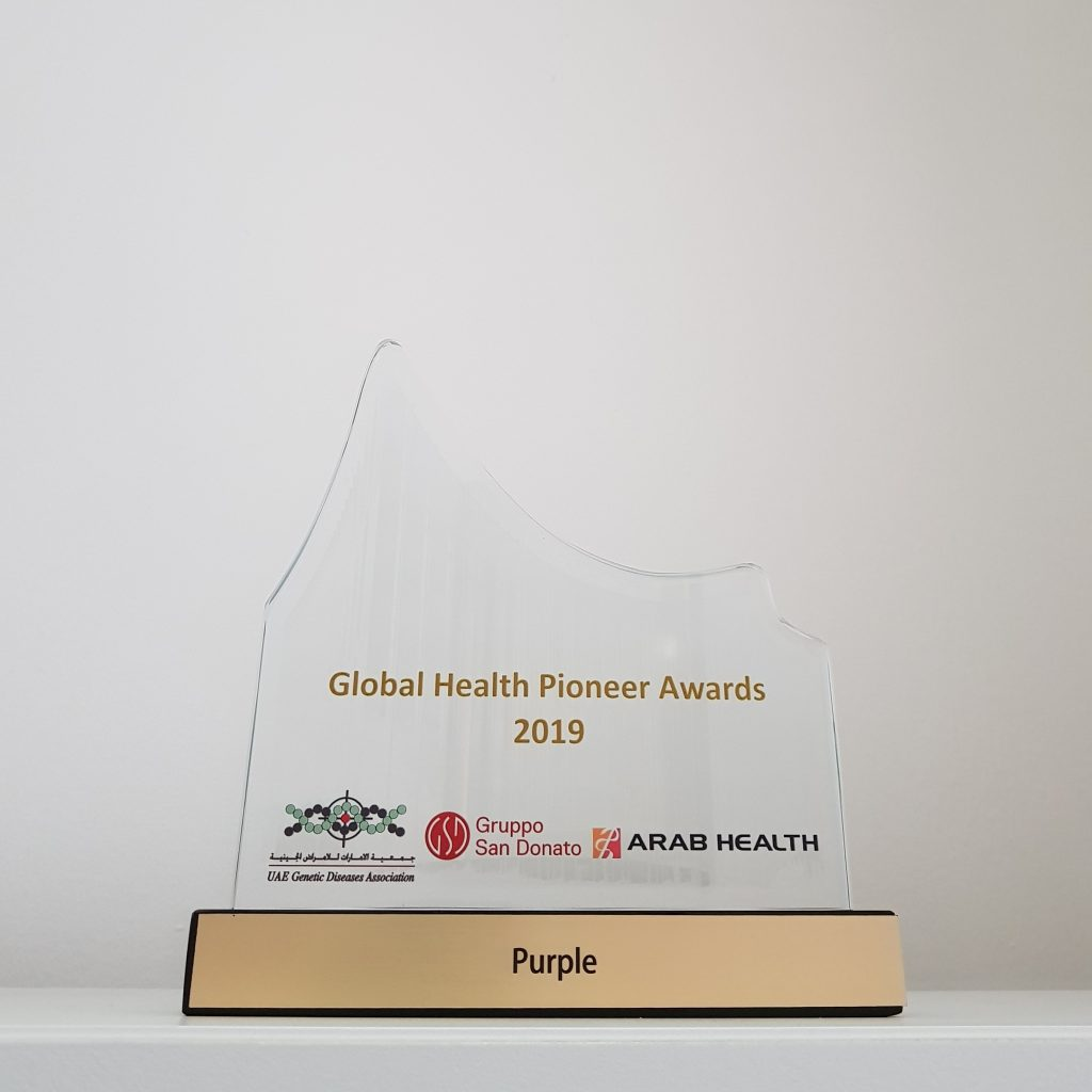 Purple Award for Global Health Pioneer Awards 2019