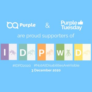 Purple and Purple Tuesday are proud supporters of the International day of persons with disabilities.
