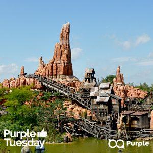 Thunder Mountain rollercoaster in Disneyland Paris
